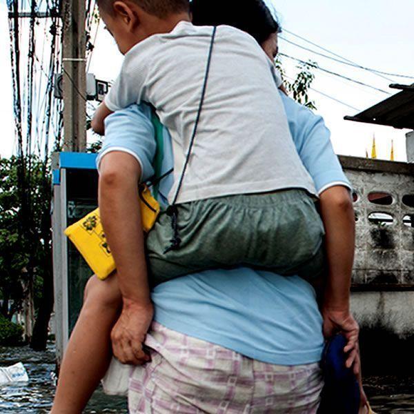 Sobrevivientes del huracán