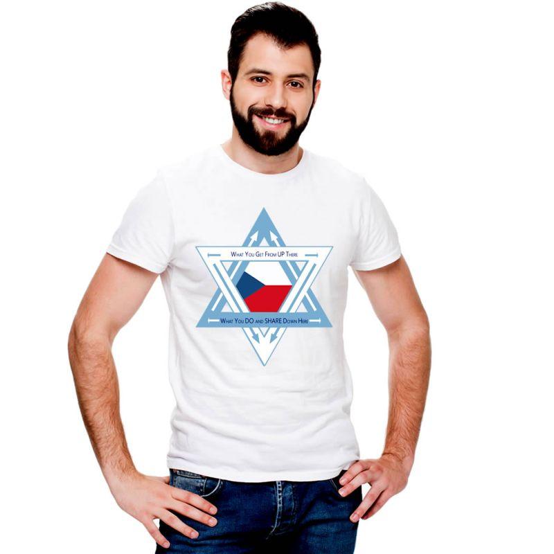 T-Shirts Flags Czech Republic Men T-Shirt