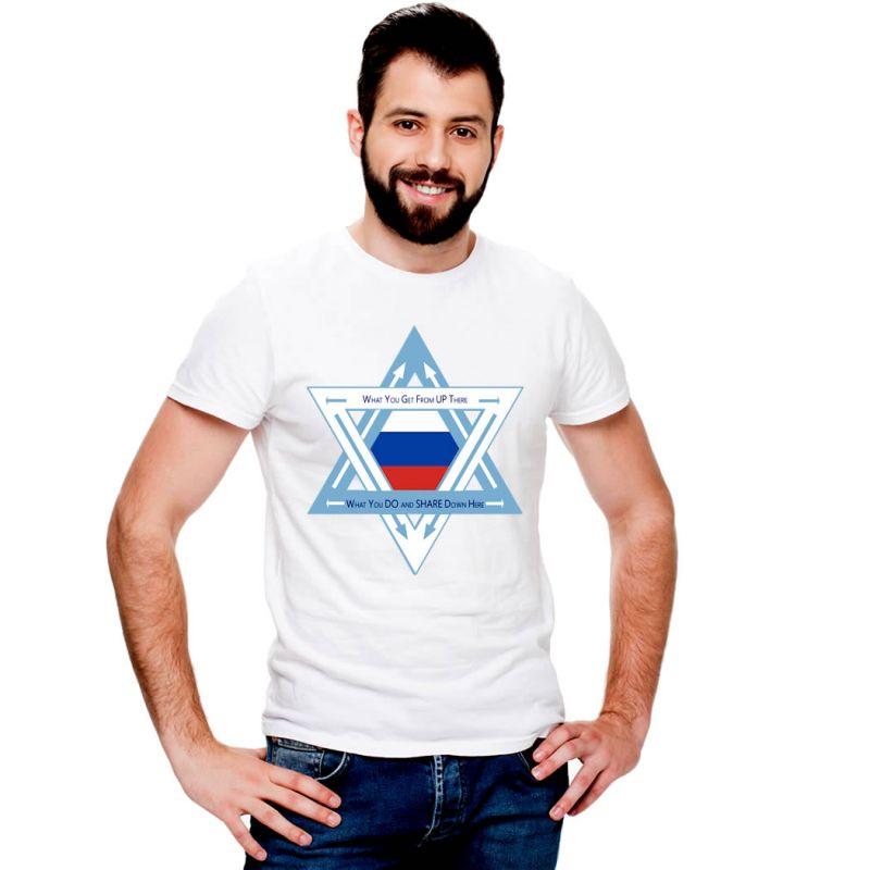 T-Shirts Flags Russia Men T-Shirt