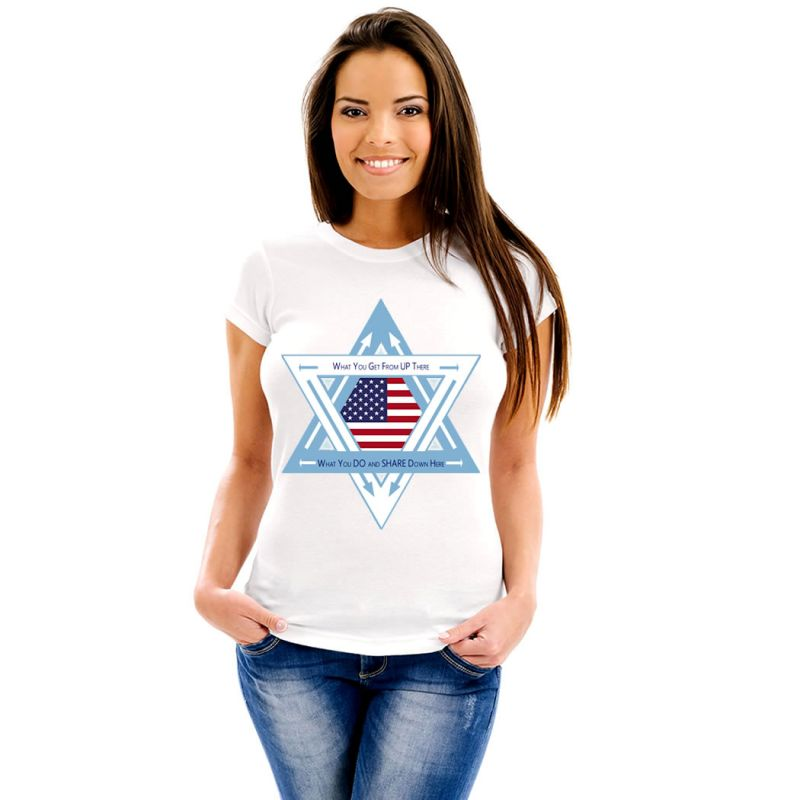 T-Shirts Flags United States of America Women T-Shirt